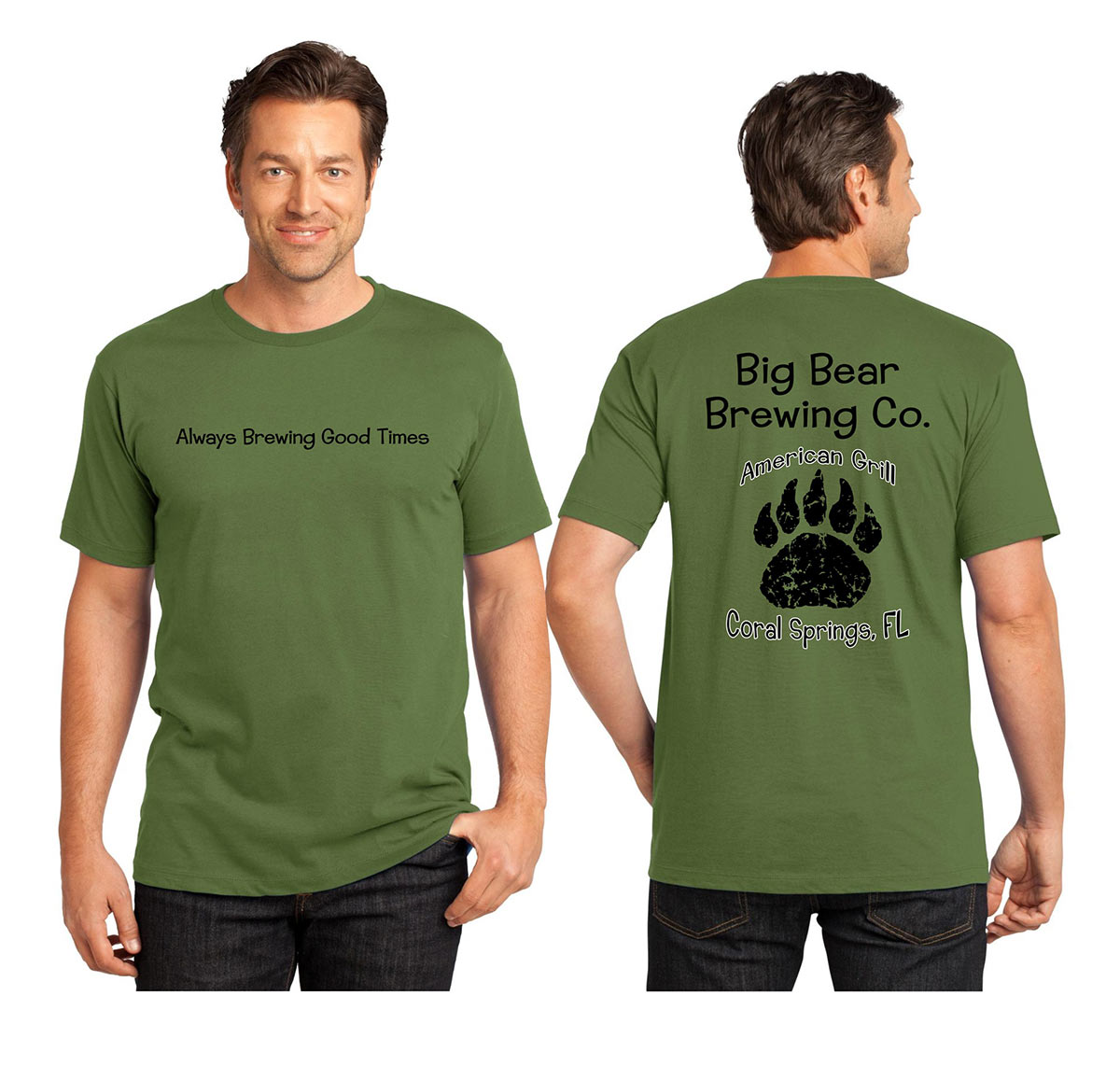 Mens Green T-Shirt | Big Bear Brewing Co
